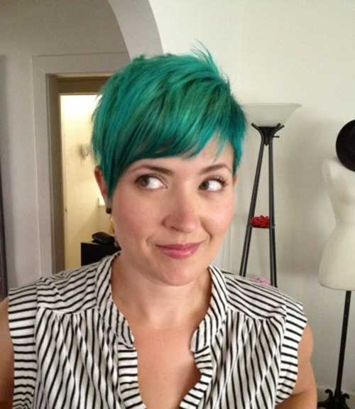 Cute Green Blue Short Hair