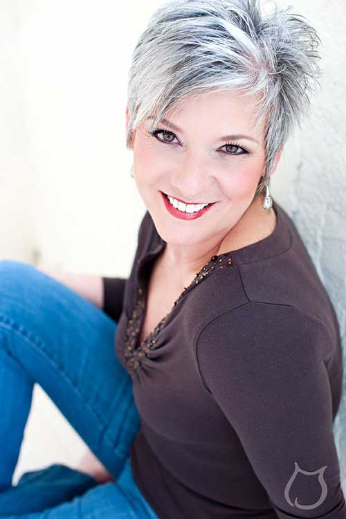 Gorgeous Grey Pixie Haircut