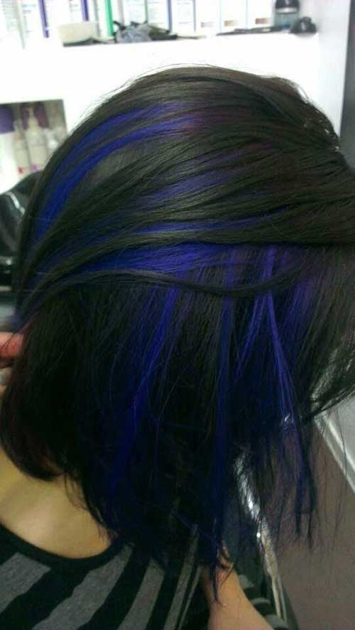 Blue Hair Color Short Hair
