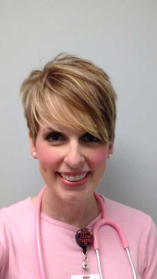 Highligted Hair Color Short Hair