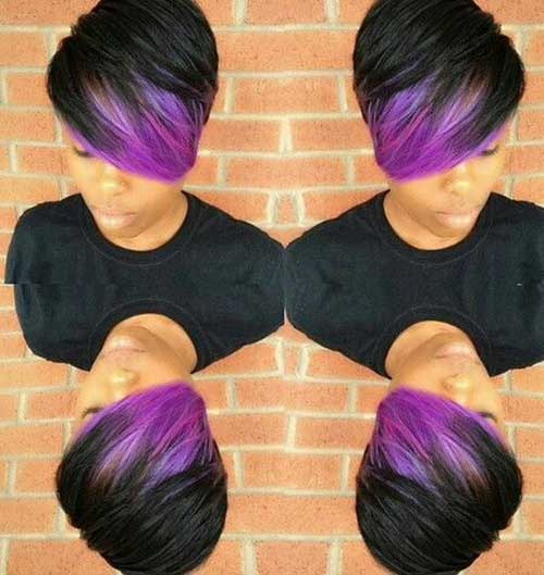 Purple Hair Color for Short Hair