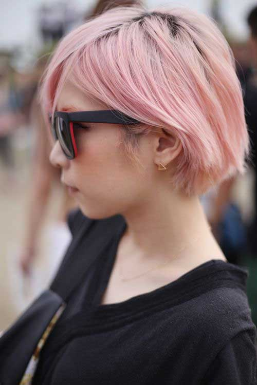 Short Pale Pink Hair