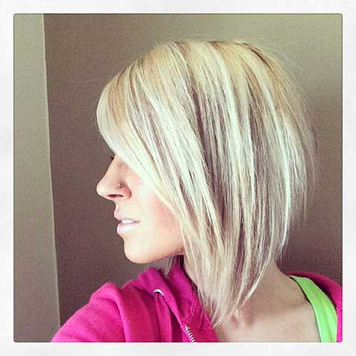 Long In Front Short Back Style Angled Bobs With Bangs Hairstyles 2017 Most