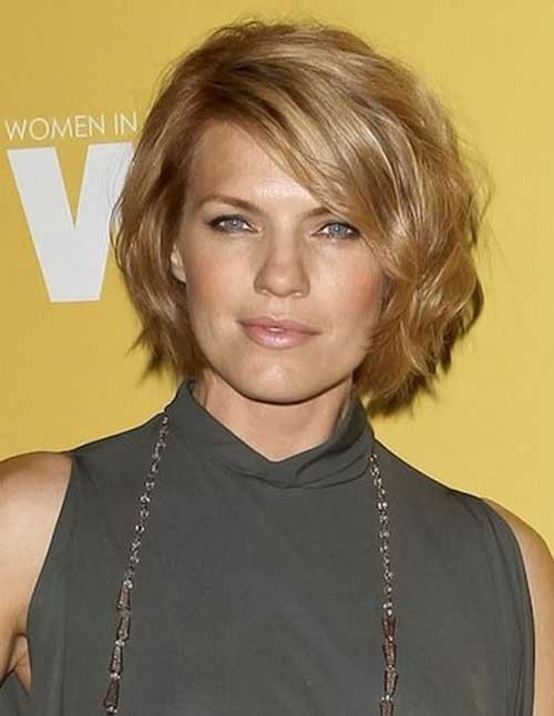 Short Wavy Hairstyles For Round Faces Short Hairstyles 2018 2019