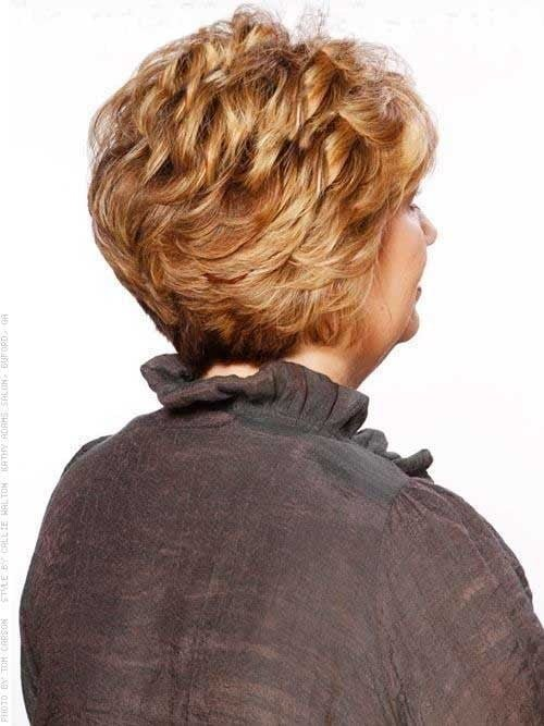 Short Curly Blonde Haircut For Older Women