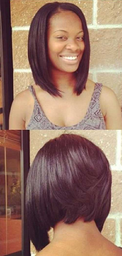 Layered Inverted Bob Haircuts For Black Women