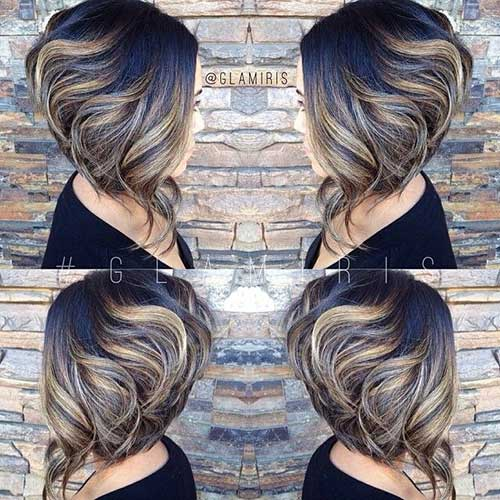 Inverted Bob with Ombre Color
