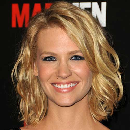 January Jones Beachy Wavy Hair Bob
