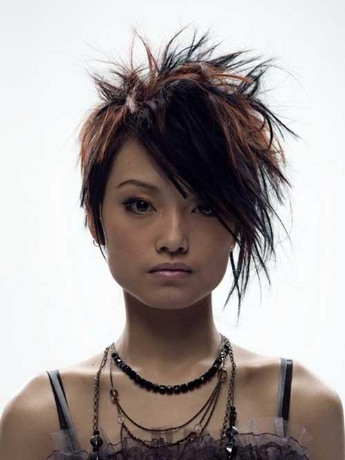 Japanese Short Spiked Hair Girl