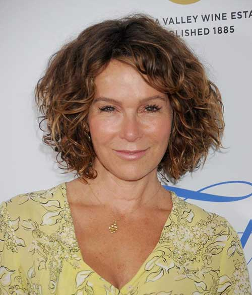 Jennifer Grey with Thick Curly Hair