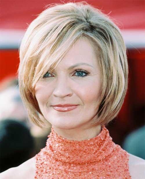 Joan Allen Layered Hair