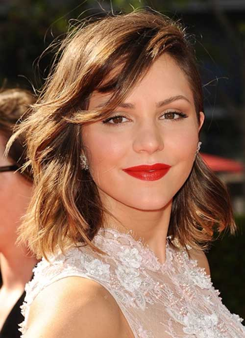 Katharine Mcphee Hairstyle with Bangs