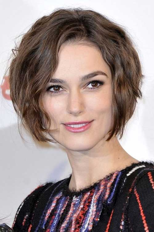 Short haircuts for wavy thick hair short hairstyles 2016 2017 keira knightleys short wavy haircut urmus