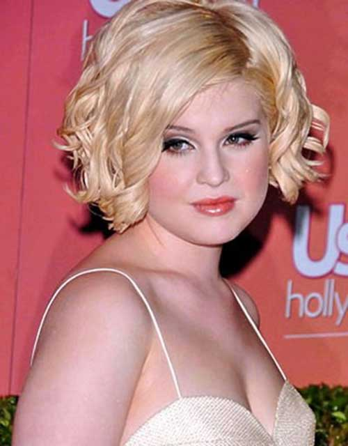 Kelly Osbourne Curly Wavy Hair Round Faces