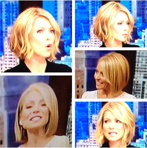 Kelly Ripa Wavy Hair 2014