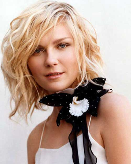 40 beachy waves short hair short hairstyles 2016 2017 most kirsten dunst wavy short hair urmus Images