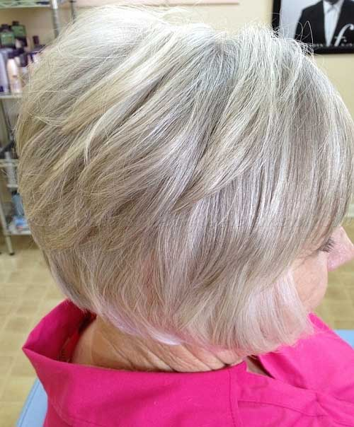 Chic Layered Bob Hairstyle for Women Over 60