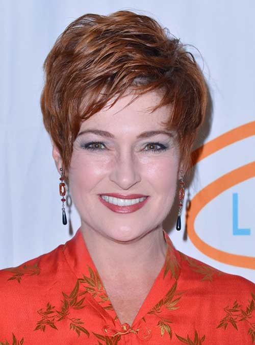 Carolyn Hennesy Layered Pixie