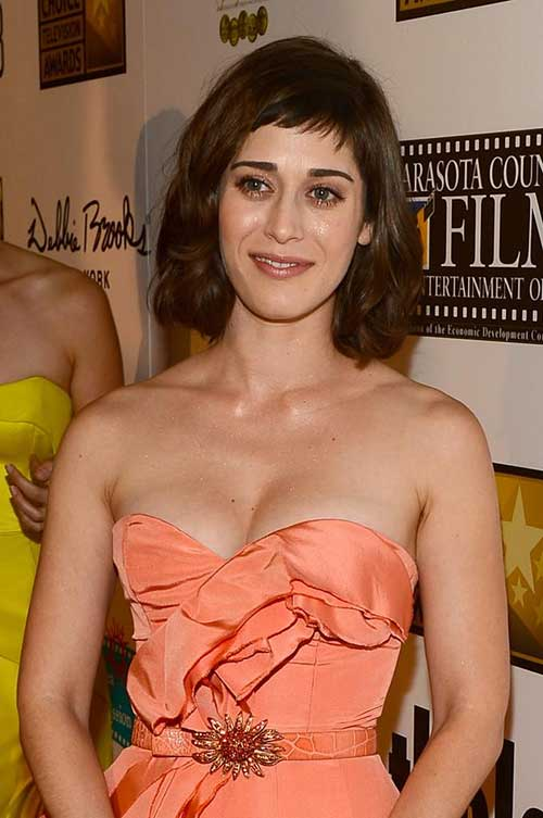 Lizzy Caplan Short Hair