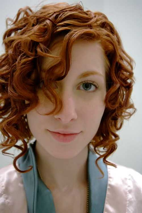 Long Bangs for Ginger Short Curly Hair
