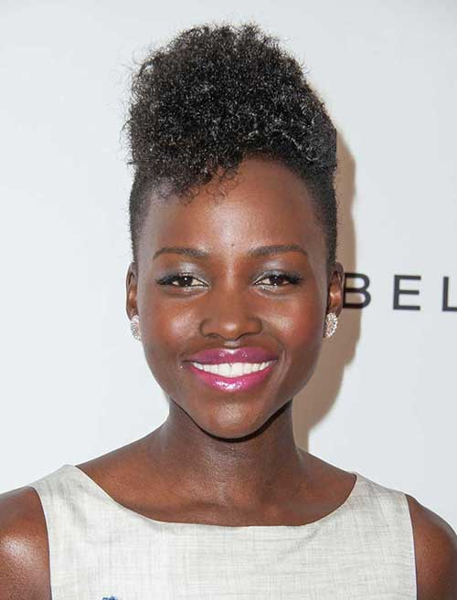 spiked haircuts for women mohawk hairstyles for black hairstyles 4856 | Lupita Nyongo Hair