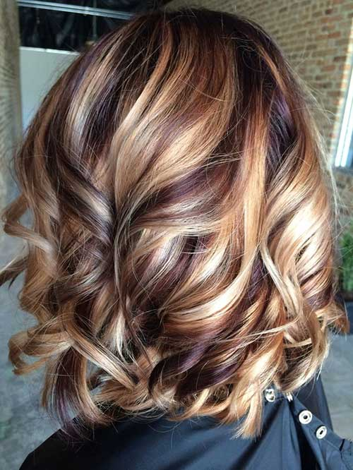 Mahogany Violet and Blonde Hairstyle