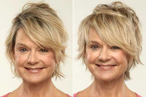 Messy Straight Hairstyles for Fine Short Hair