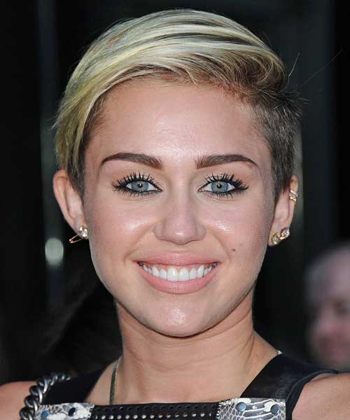 Miley Cyrus Casual Short Hairstyles
