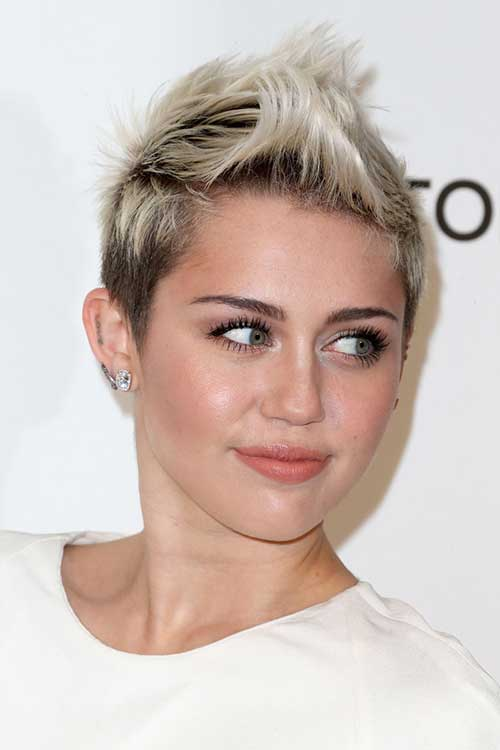 Miley Cyrus Spiked Hairstyles