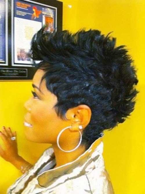 Brilliant Mohawk Short Hairstyles For Black Women Short Hairstyles 2016 Short Hairstyles Gunalazisus