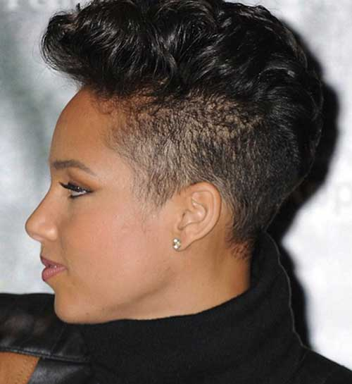 Magnificent Mohawk Short Hairstyles For Black Women Short Hairstyles 2016 Hairstyles For Women Draintrainus