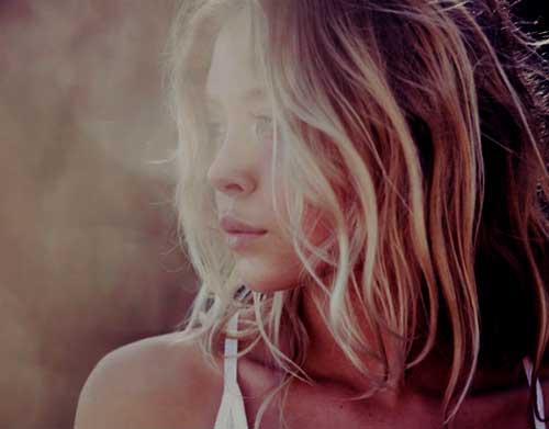 Celebrity Natural Wavy Blonde Hair