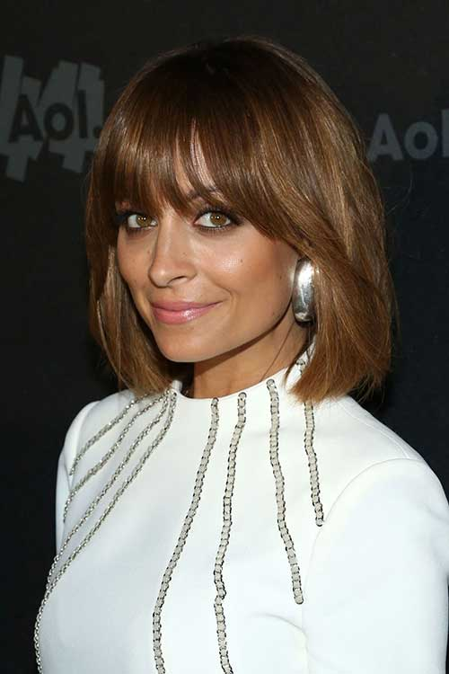 Nicole Richie Cute Brown Hairstyles