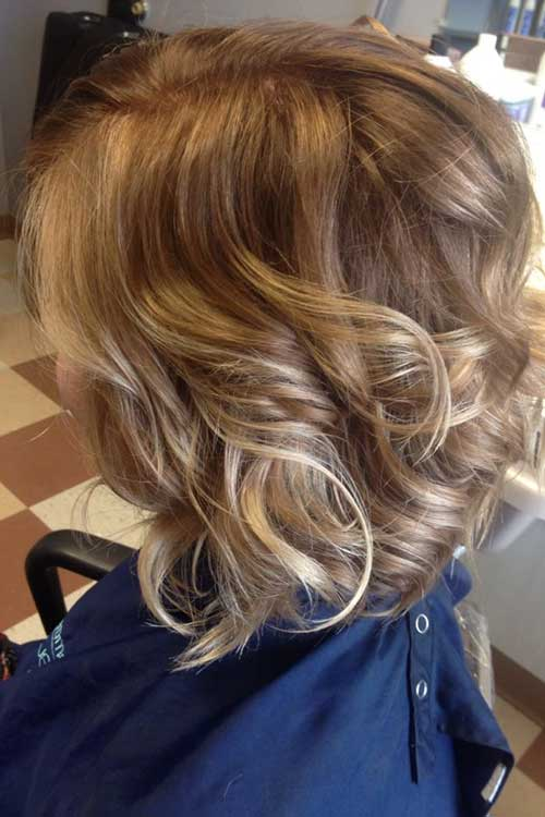 Lovely Ombre Curly Short Hair Blonde