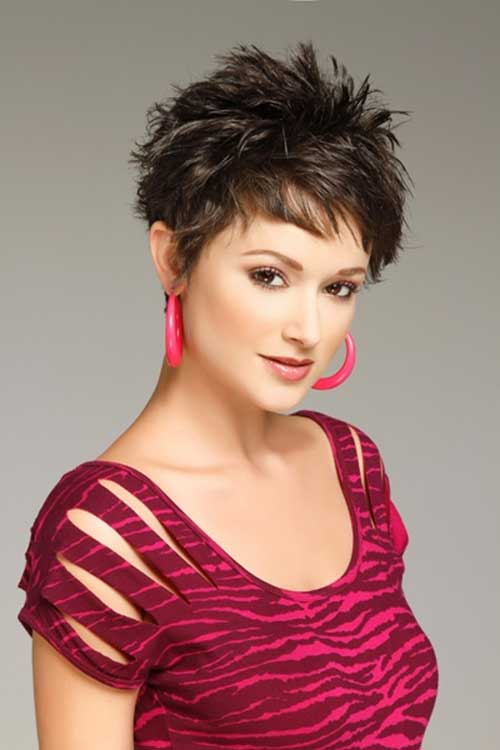 Perfect Thick Dark Pixie Haircut