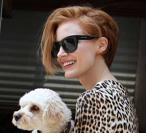 Jessica Chastain Pixie Haircuts for Women