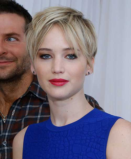 Jennifer Lawrence Pixie Cut 2014-2015