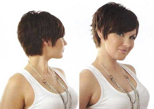 Pixie Short Funky Hair with Side View