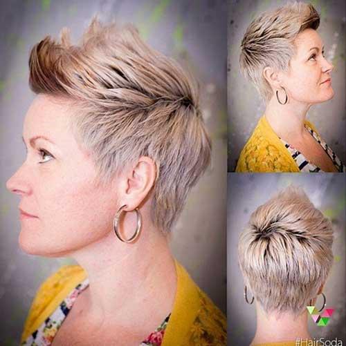 Trendy Platinum Blonde Style Pixie