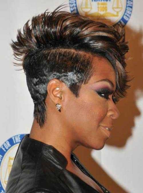 Astounding Mohawk Short Hairstyles For Black Women Short Hairstyles 2016 Hairstyles For Men Maxibearus