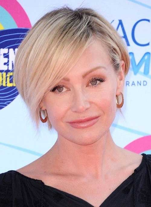 Portia de Rossi Side Parted Bangs