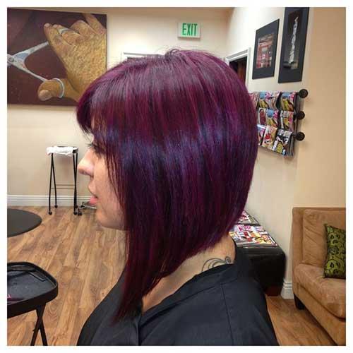 Purple Hair Bob Style