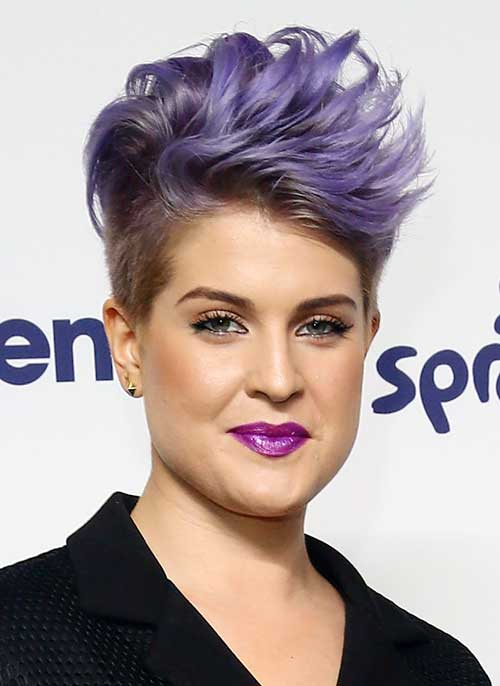 Purple Trendy Pixie Hair