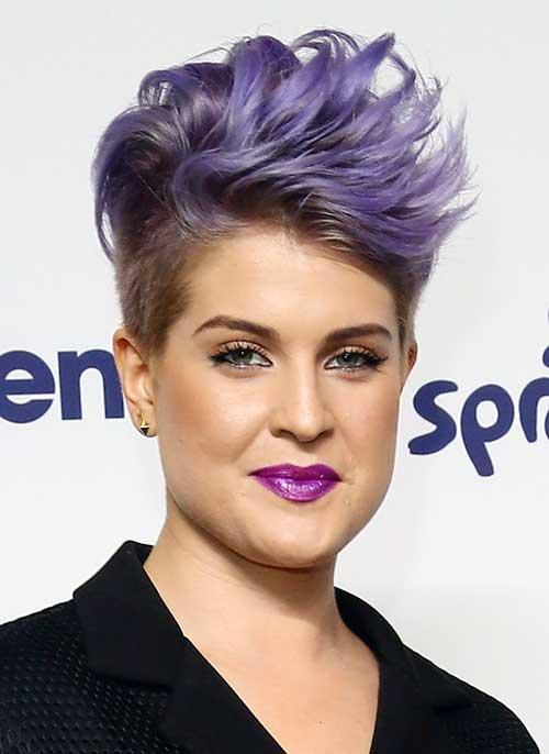 Purple Trendy Pixie Hair