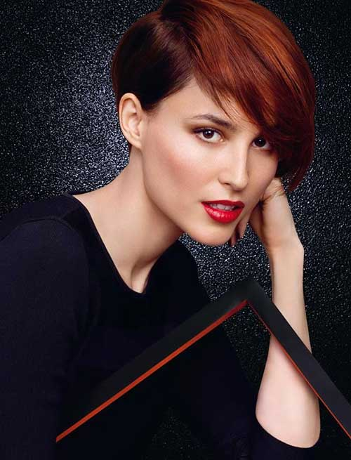 Trendy Red Long Pixie Styles 2015