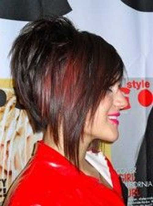 Red Stacked Layered Bob Hairstyles