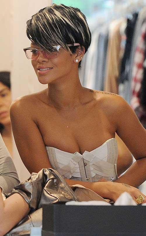 Rihanna's Funky Short Hair