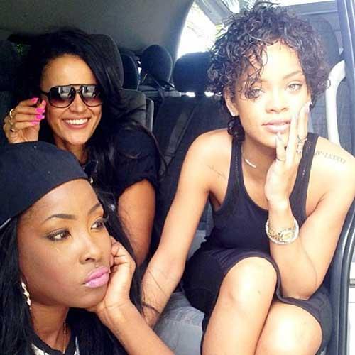 Rihanna Short Curly Hairstyles