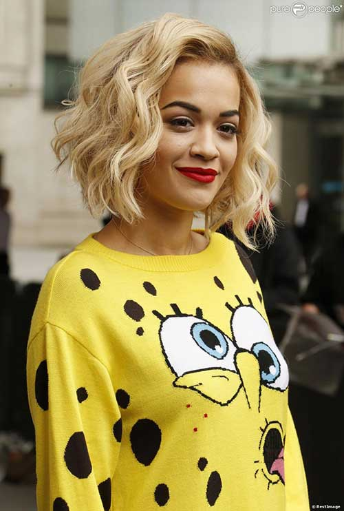 Rita Ora Hair 2014 Thick Waves