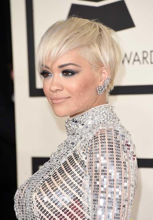 Rita Ora Pixie Hairstyles 2014